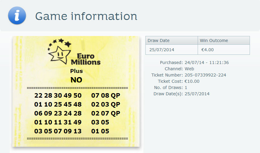 Lotto Syndicate Ireland - Winnig tickets