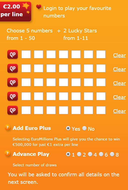 Lotto Syndicate Ireland - EuroMillions Lines