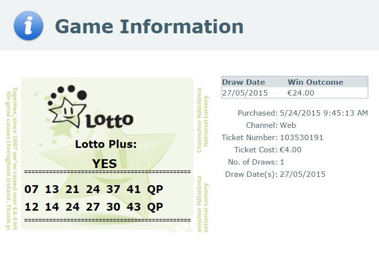 WINNING TICKETS 2 | Lotto Syndicate Ireland